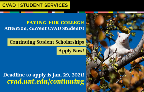 Apply now for a CVAD continuing student scholarship.