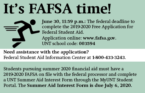 FAFSA Deadline is June 20