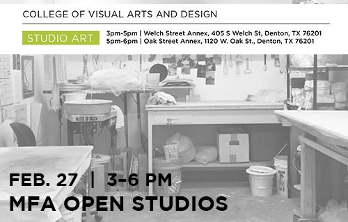 Studio Art MFA Open Studios, Feb. 27, 3-6 p.m.
