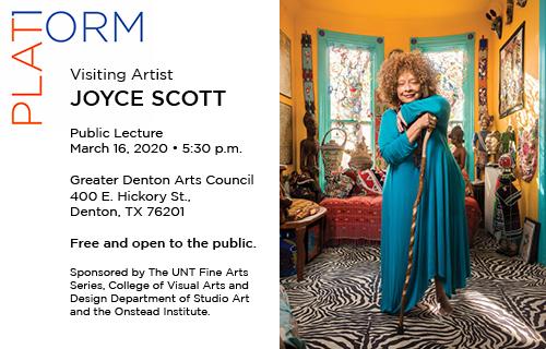 Joyce Scott, visiting artist, public lecture, March 16, 5:30 p.m.