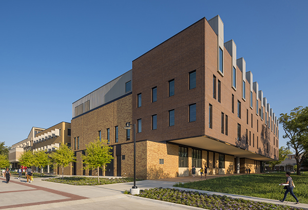 South facing side of the new CVAD building