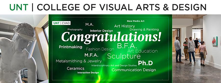 UNT CVAD Congratulations to graduates