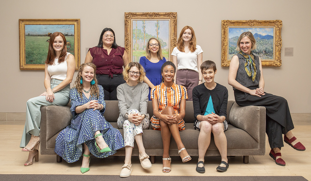 Interns at the Dallas Museum of Art