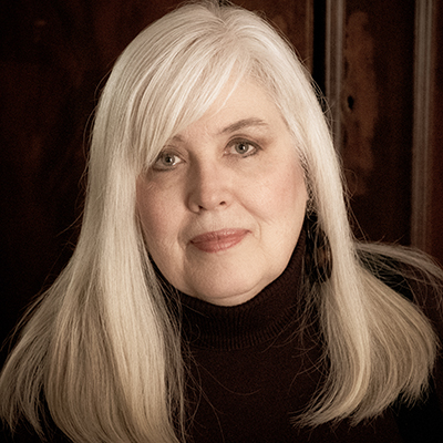 Karen Dorff, head and shoulders portrait