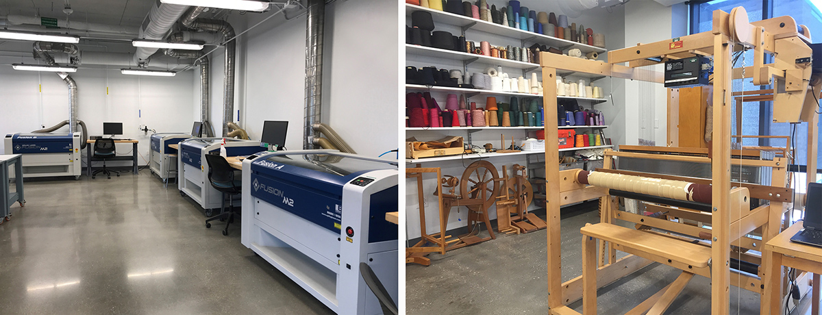 CVAD Digital Fabrication Lab and the Textile Fabrication Lab