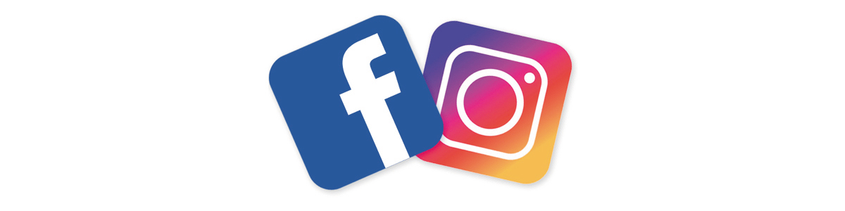 Facebook and Instagram icons