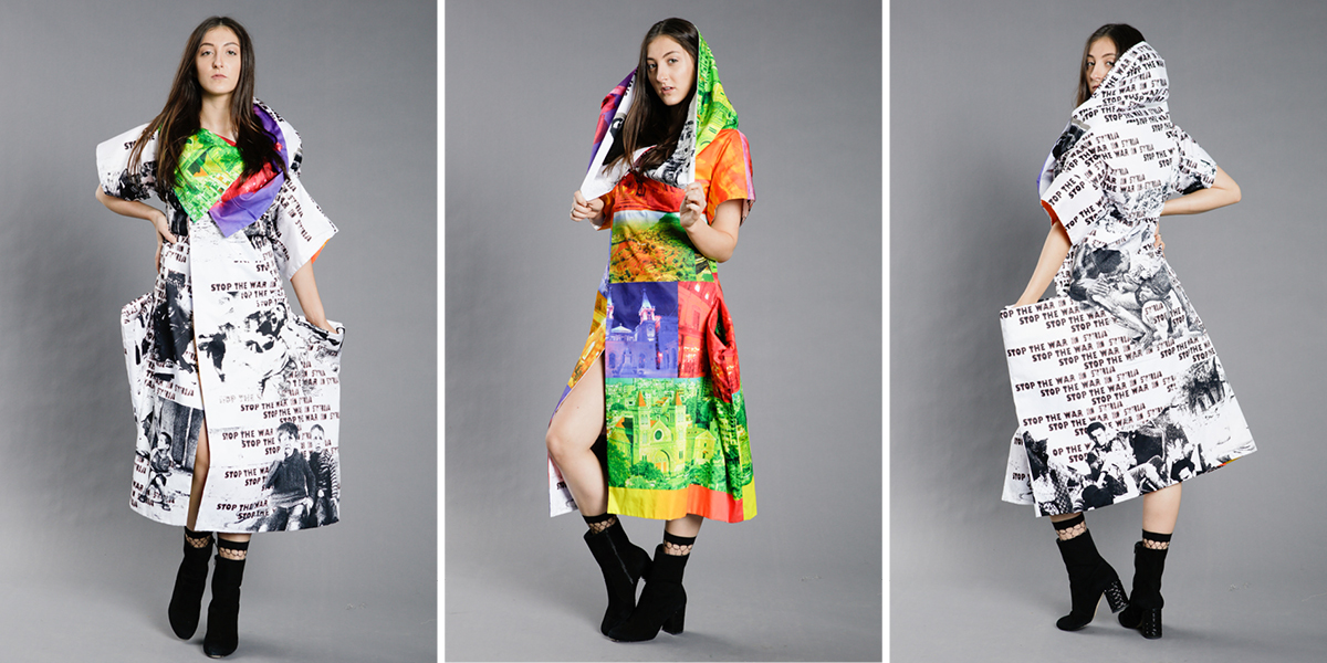 Zero-waste coat designed by Dr. Hae Jin Gam