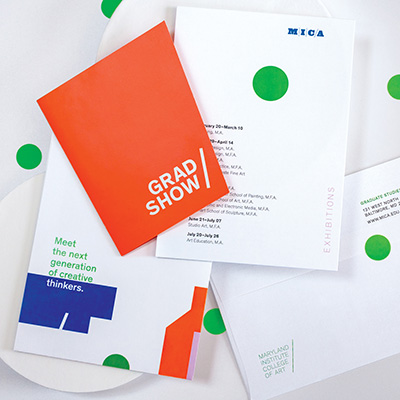 Grad Show project materials by Erica Holeman: stationery for the MICA
