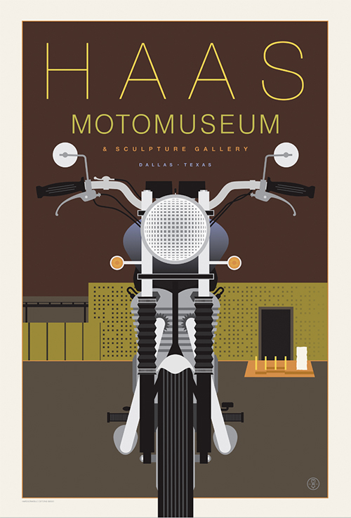 Haas MotoMuseum poster by Doug May