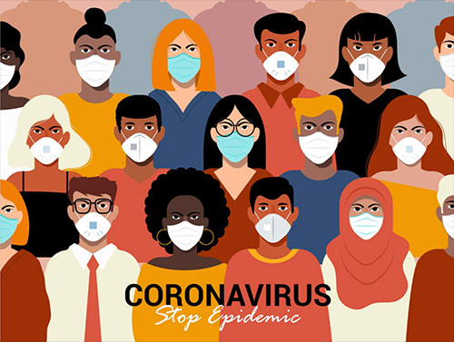 Help to stop the coronavirus epidemic by wearing a mask