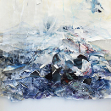 Detail of painting by Maria Haag