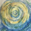 Detail of a drawing by Merfat Bassi, yellow ball