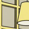 A detail from CVAD Collection G-82-59, Interior: Morning by Patrick Caulfield.