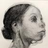 Detail of pencil art by Kenturah Davis, woman in profile