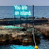 """Detail of """"You are an island"""" by Alicia Eggert"""