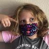 Amelia Otto wearing a cloth mask